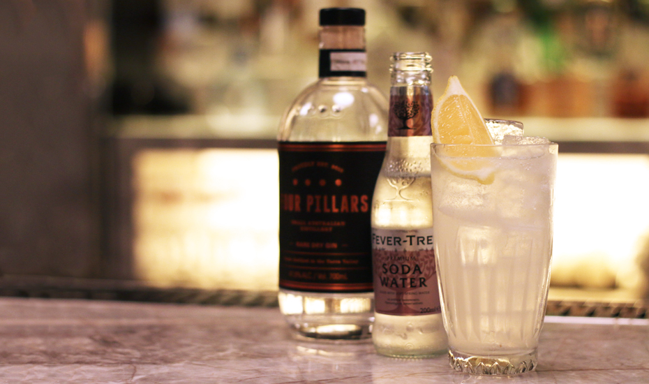 How to make a Tom Collins with Four Pillars gin Honeycombers-Singapore
