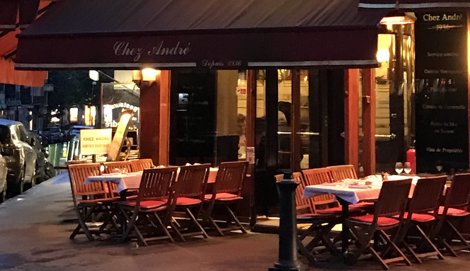 Chez Andre: a perfect Parisian bistro around the corner from the Hideaways Club apartment.