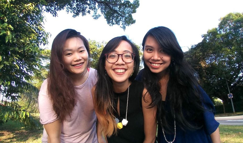 Sonder Social's founders, from left: Sing-Suen Soon, Azi Fuad and Syafiqah Omar.