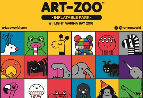 Art-Zoo Inflatable Park @ i Light Marina Bay 2018 Honeycombers Singapore