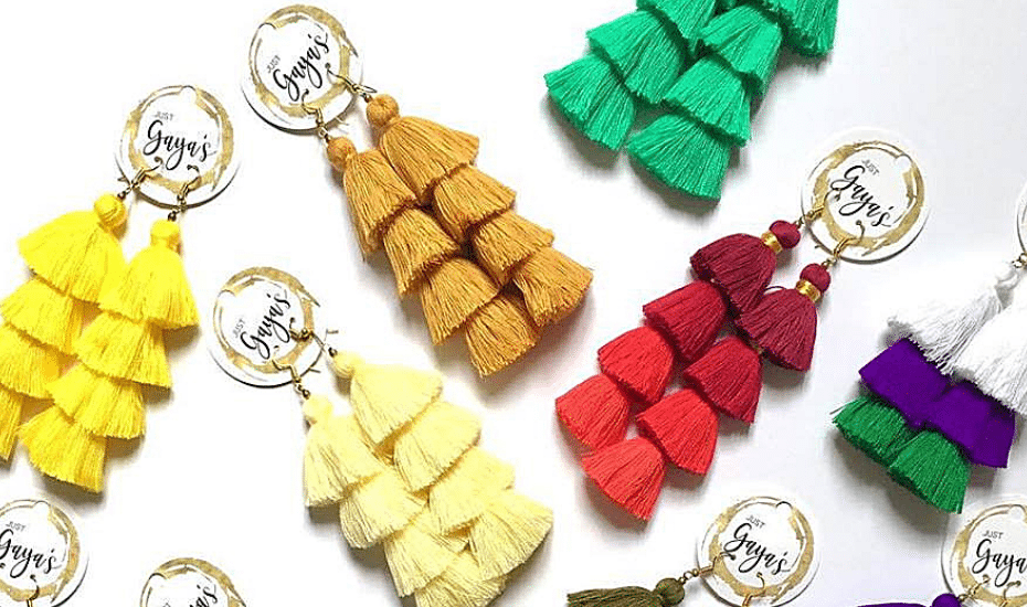 Statement earrings in Singapore: Just Gaya's