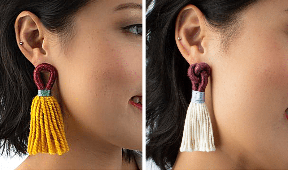 Statement earrings in Singapore: Talee