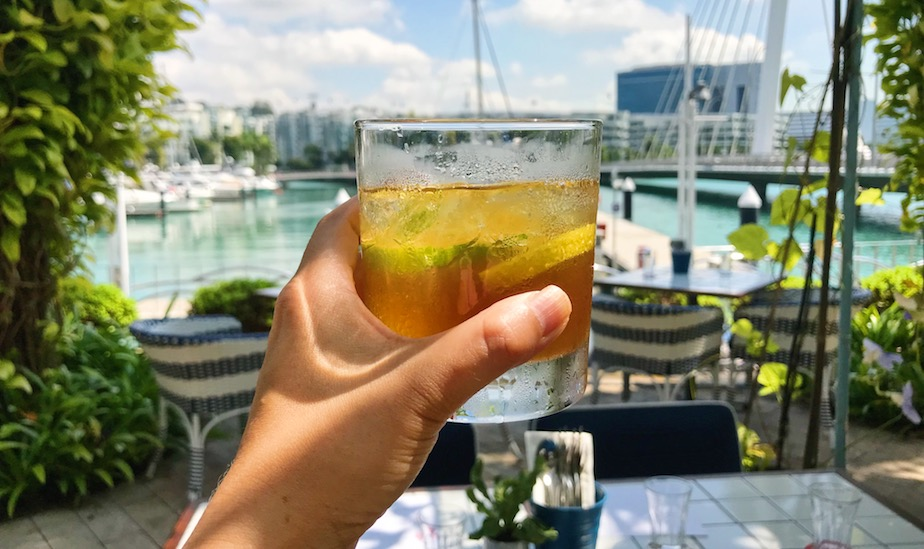 Oh we do like to be beside the seaside. With a jug of Pimm's at Bayswater Kitchen. Photography: Selina Altomonte