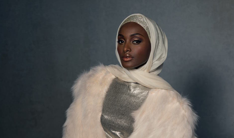 The Art-Deco inspired hijab from Haute Hijab. Photography: courtesy of Haute Hijab.