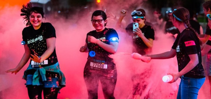Color Run is a 5km run where runners will be doused in neon colours