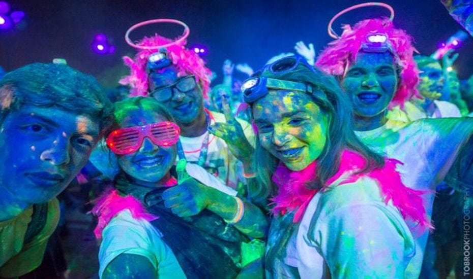 Get doused with neon colours at Colour Run this year