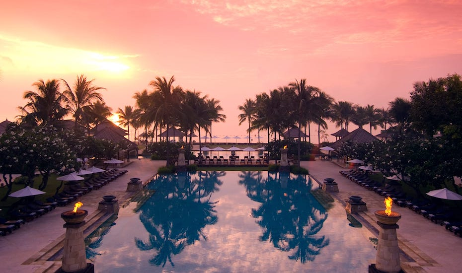 Sprawling and scenic, the Conrad Bali resort is an effortless quick escape from Singapore