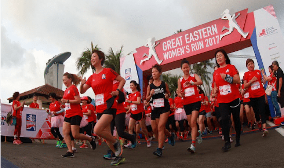 Great Eastern Women's Run is the biggest all women run in Southeast Asia