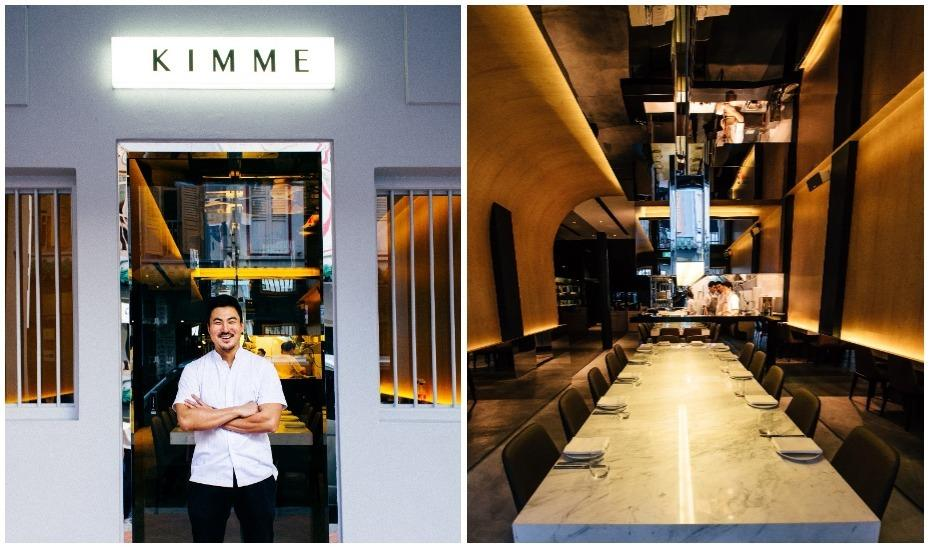 Left: Executive Chef Sun Kim. Right: Kimme's communal table.