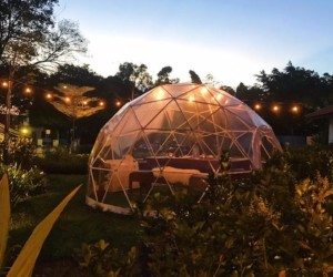 The Summerhouse Garden Domes dinner in an edible garden Honeycombers Singapore