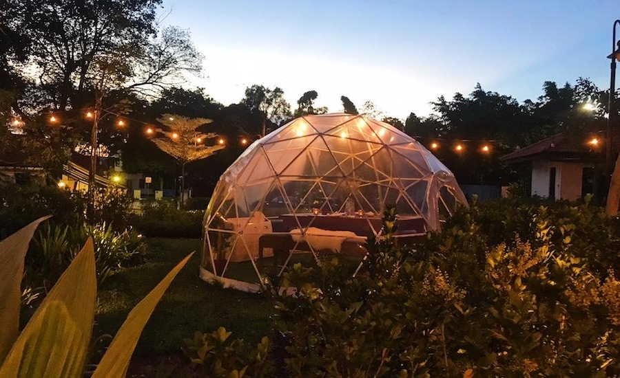 The Summerhouse now has igloos in its gorgeous garden for dining in a dome, and the experience is next level