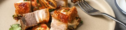 Belly Mussels at alittle tashi restaurant: crispy pork belly and sweet-sour mussels