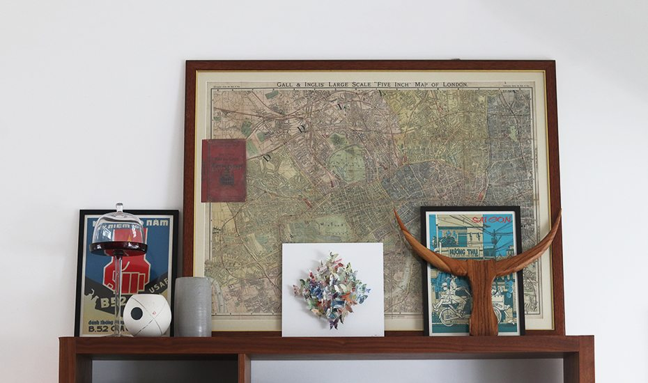 Inside a modern Tiong Bahru apartment filled with memorabilia and antiques