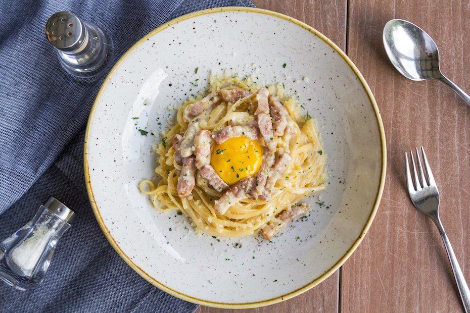 GRUB's carbonara pasta
