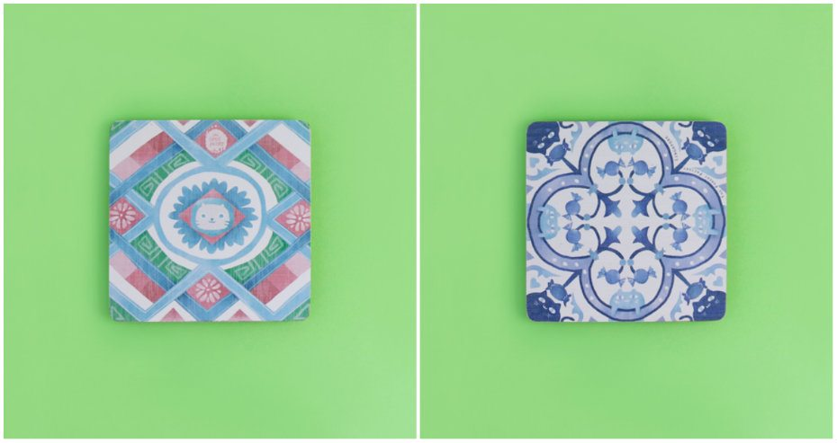 Cool Singapore souvenir: The Farm Store Peranakan coasters