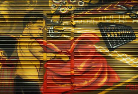 Hong Kong | Shutter art in Sham Shui Po and Wan Chai