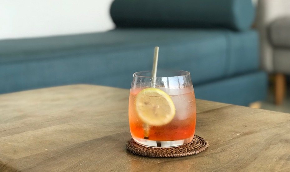 Reduce single use plastic: stainless steel cocktail straw by Pineapple Co
