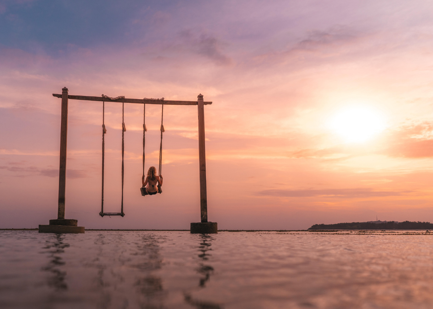 The famed swings of Gili, Indonesia
