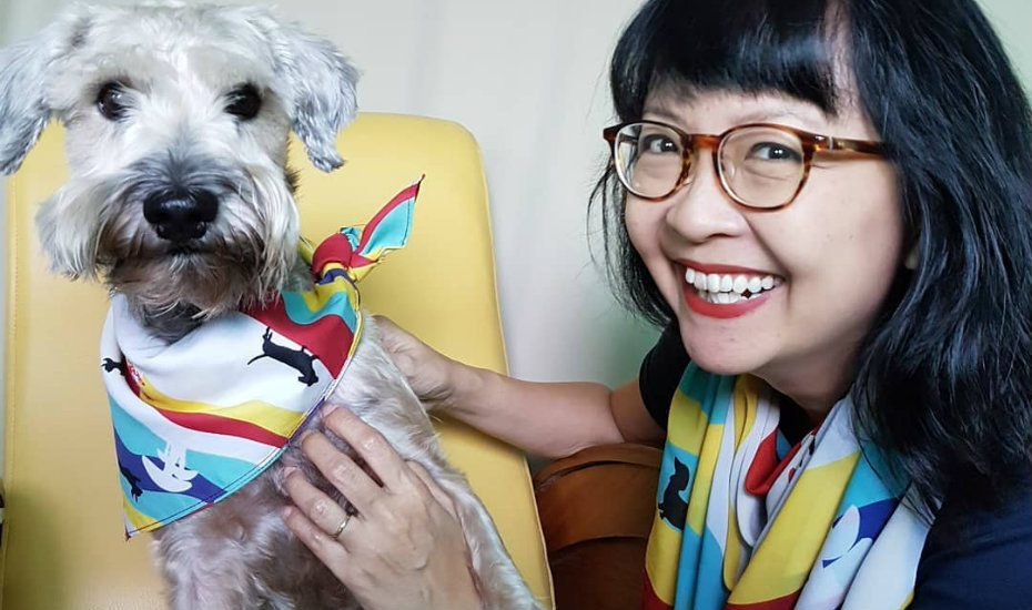 These Binary Style scarves totally make us want to twin with our dogs