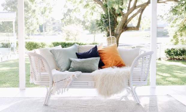 Rattan revival: Sofa by Byron Bay Hanging Chairs