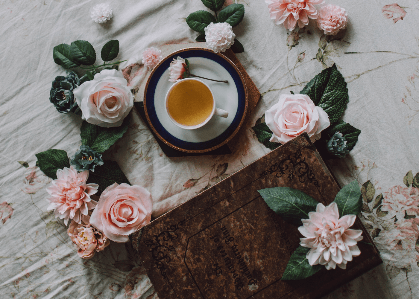 teacup with flowers | best teas in singapore