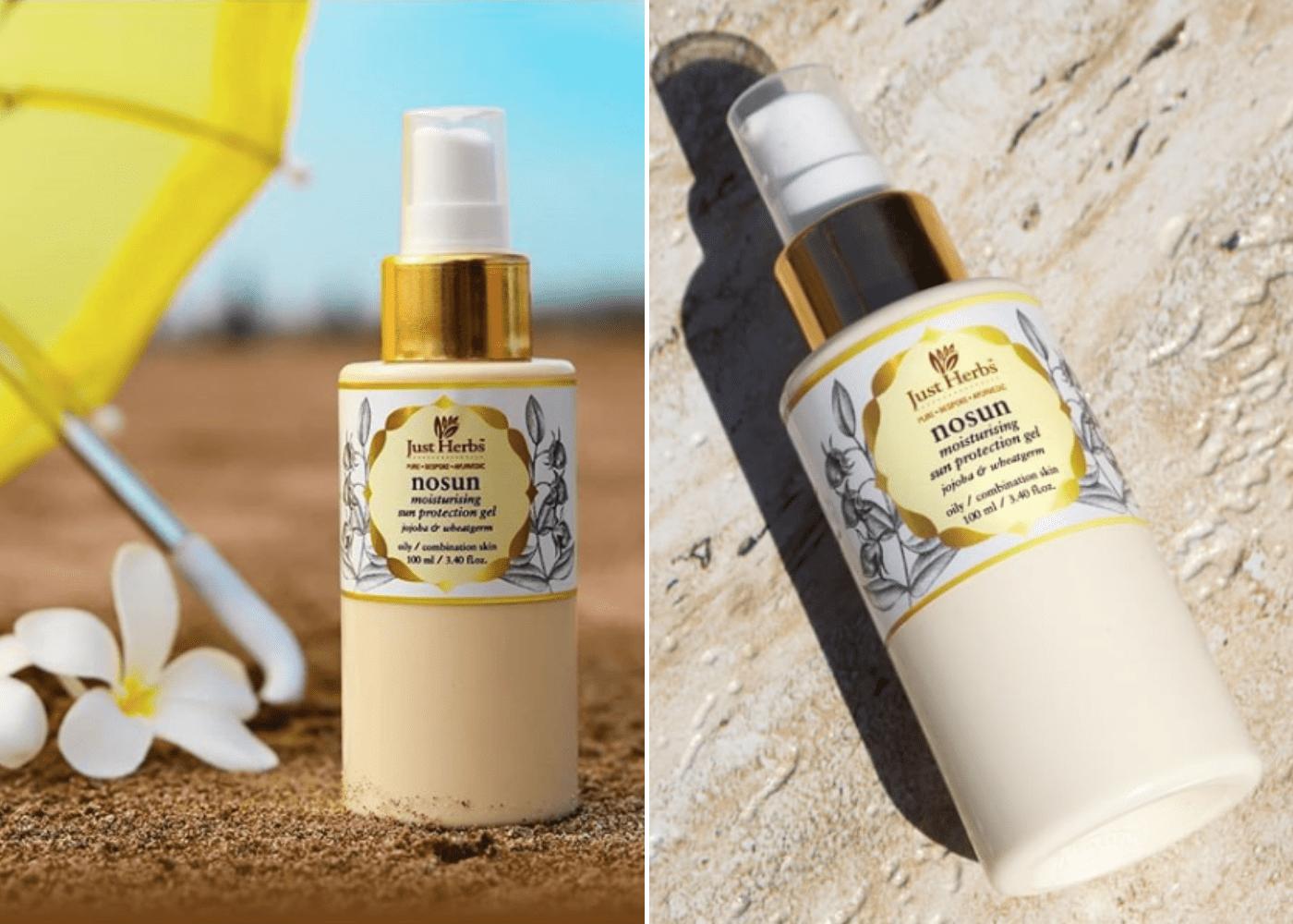Just Herbs No Sun Jojoba-Wheatgerm Moisturising Sun Protection Gel | Best sunscreens