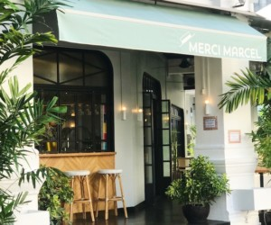 The new branch of Merci Marcel is a cute corner restaurant on Club Street