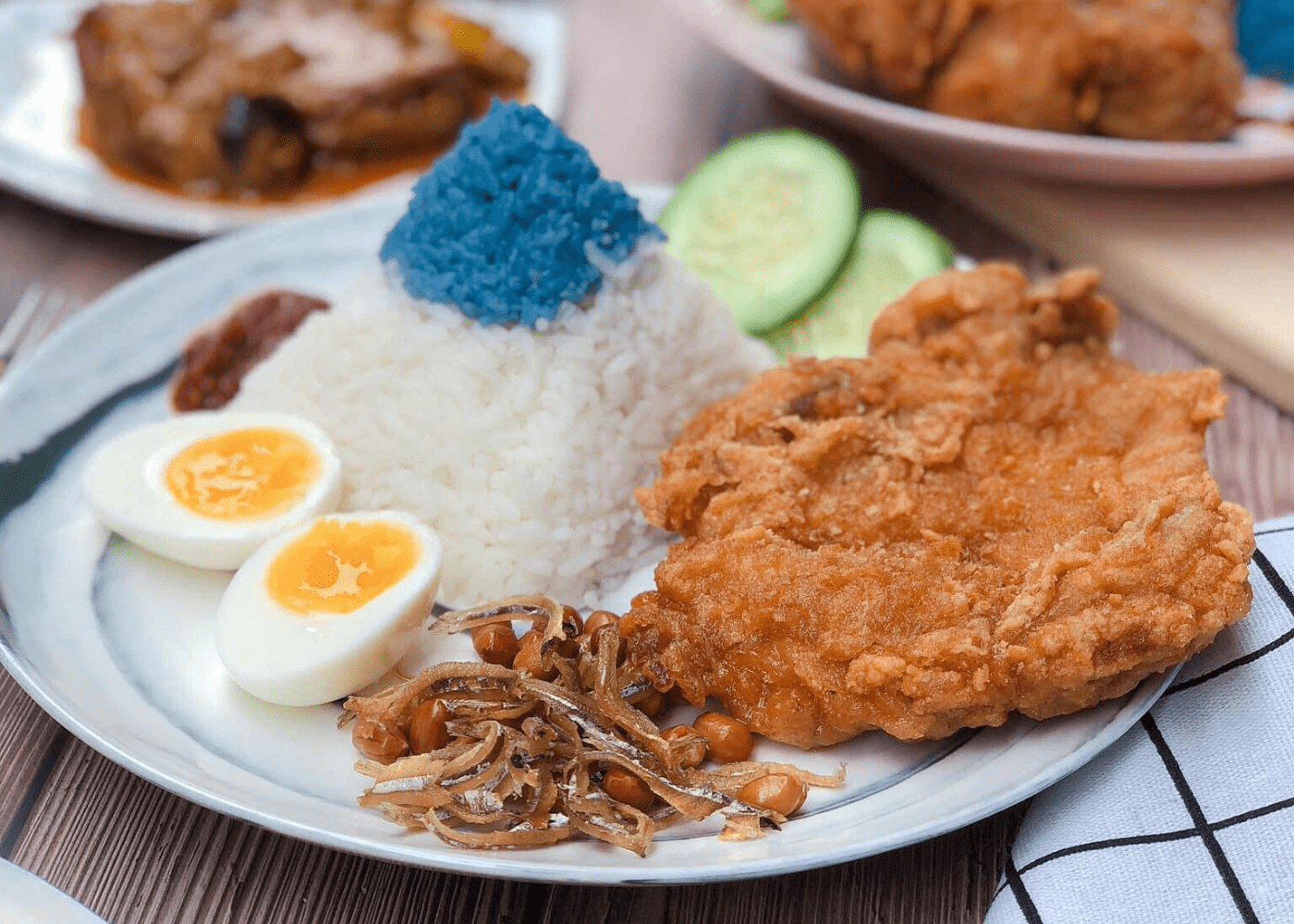 simple nasi lemak in singapore