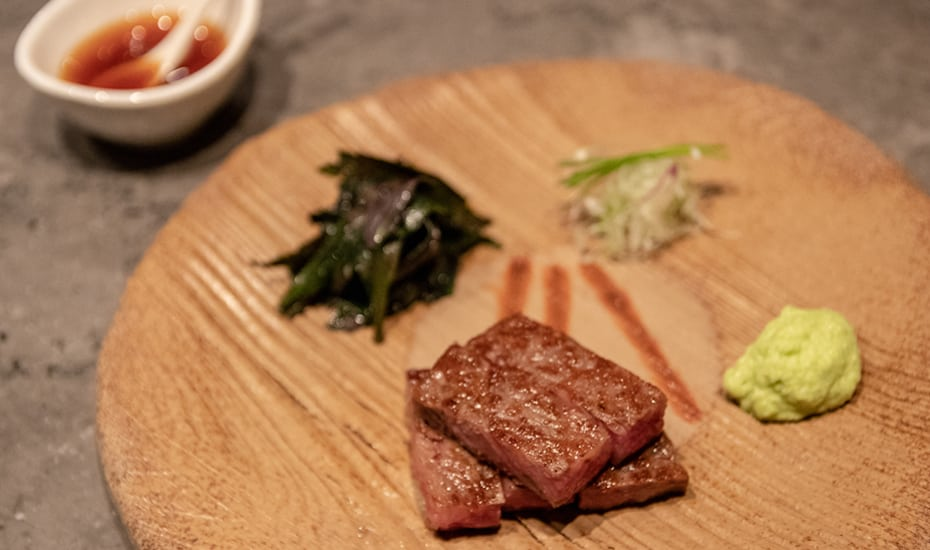 Ohmi Wagyu Steak | Waku Ghin MBS