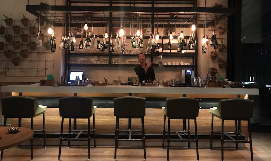 Chill out over cocktails at L Hotel. You'll always be greeted with a megawatt smile.
