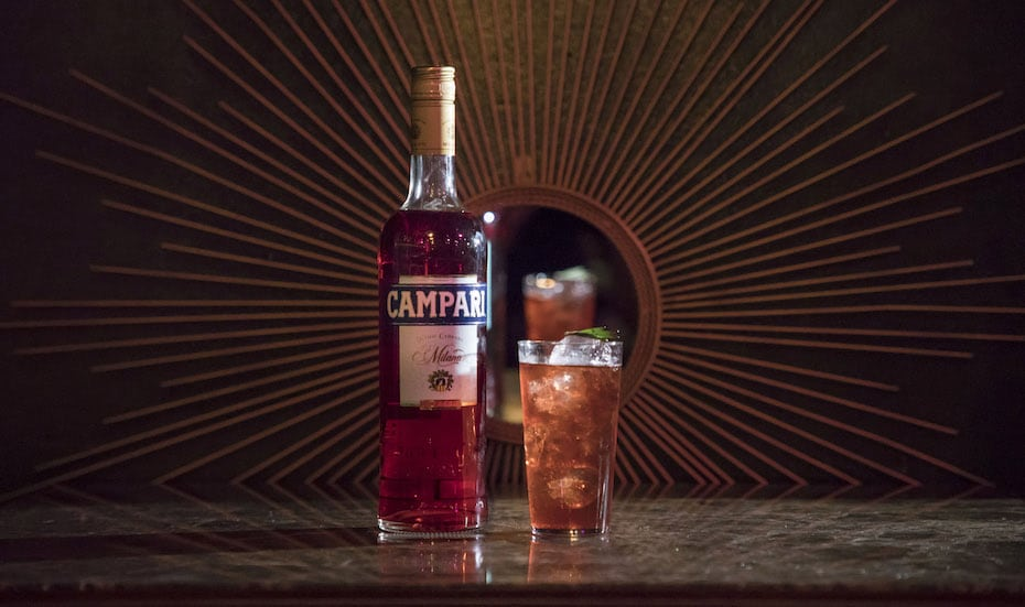 Fancy's debut drink for Negroni Week: The Rosella