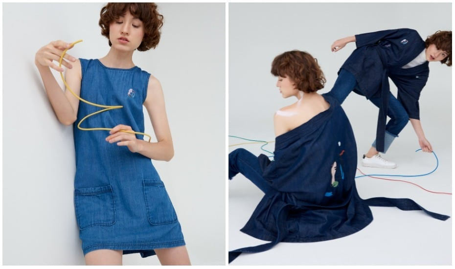 Pomelo's first sustainable collection Purpose by Pomelo features denim dresses and kimonos