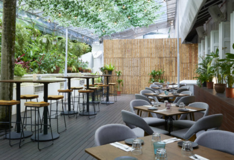 Botanico at The Garage | Outdoor seating
