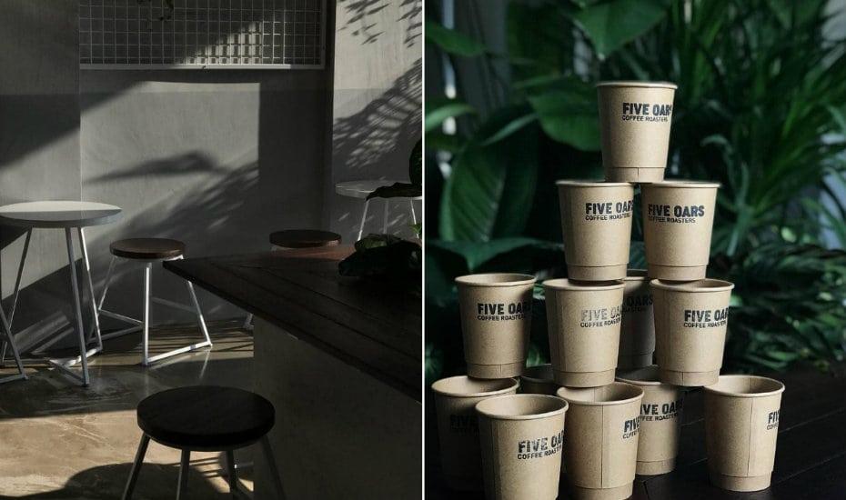 FIve Oars Coffee Roasters at Tanjong Pagar.
