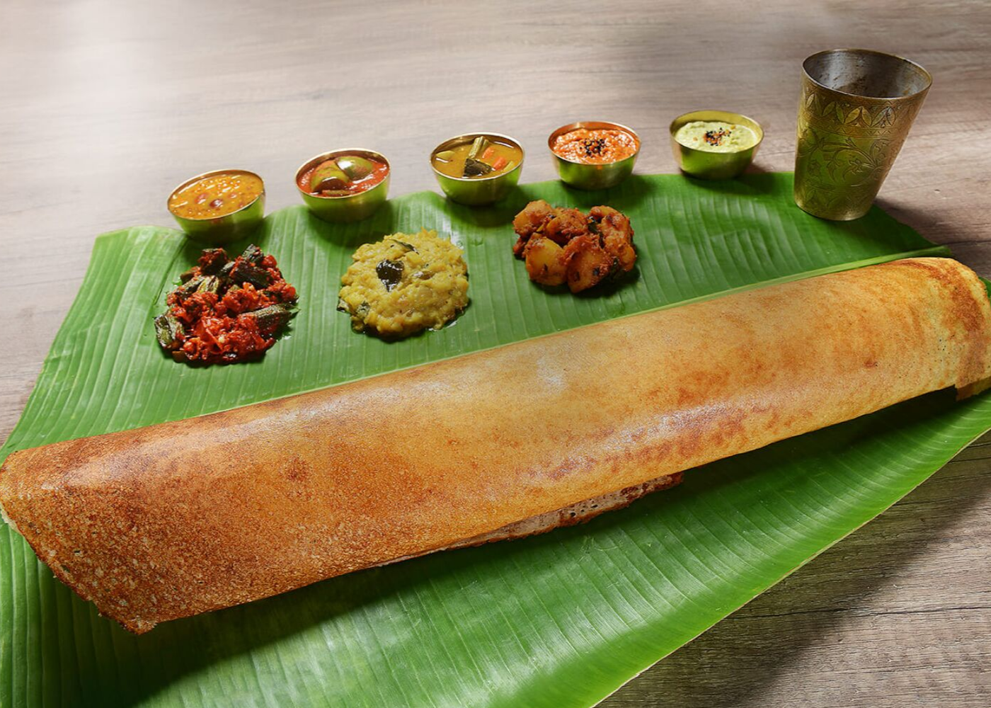 Try the paper thosai at Komala Vilas