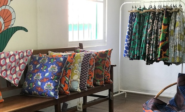 It's all about bright colours and prints at KL-based label Nala Designs