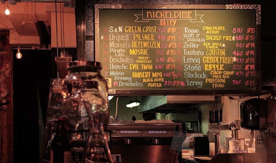 Plenty of craft beers at Nickeldime