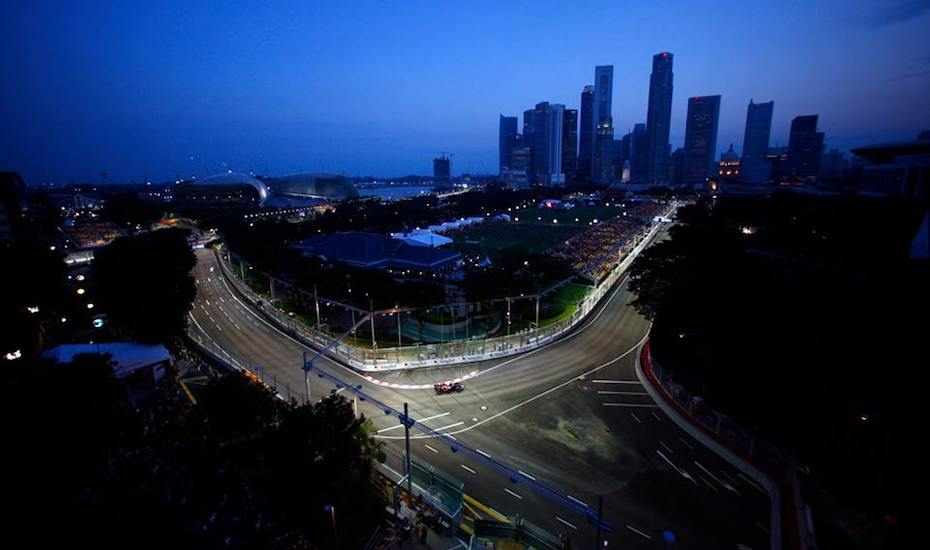 The only formula one night race