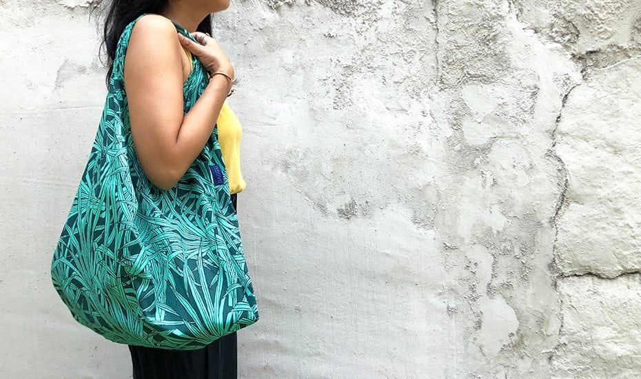 zero waste grocery shopping reusable bag