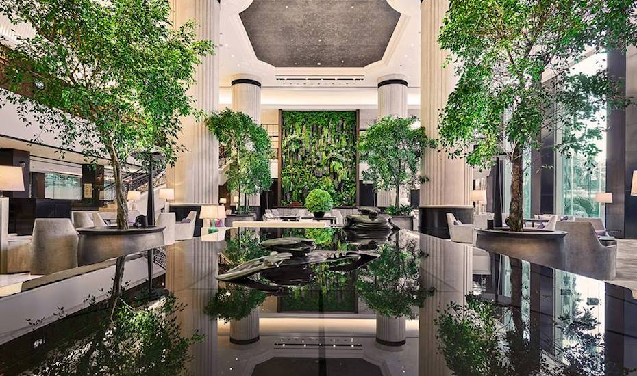 Singapore's most spectacular hotel lobbies
