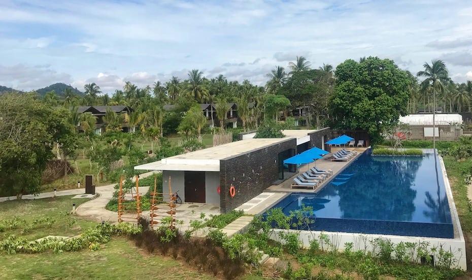 The main pool at The Residence Bintan