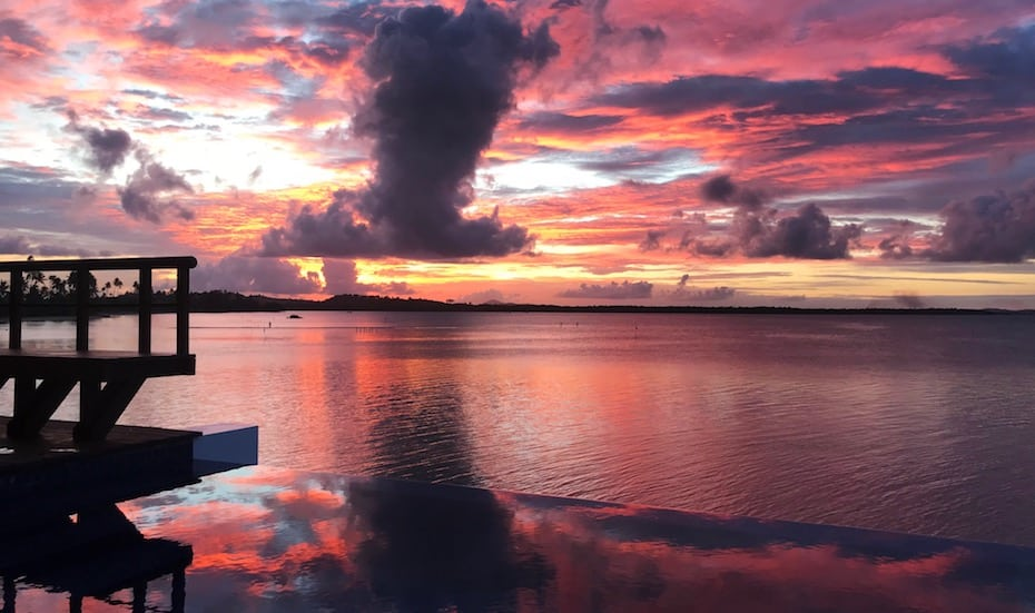 The stunning sunset view from The Residence Bintan