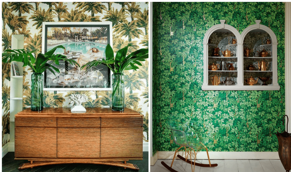 Home Decor Trends | Leafy Decor | Botanical Home Decor | Botanical Wallpaper
