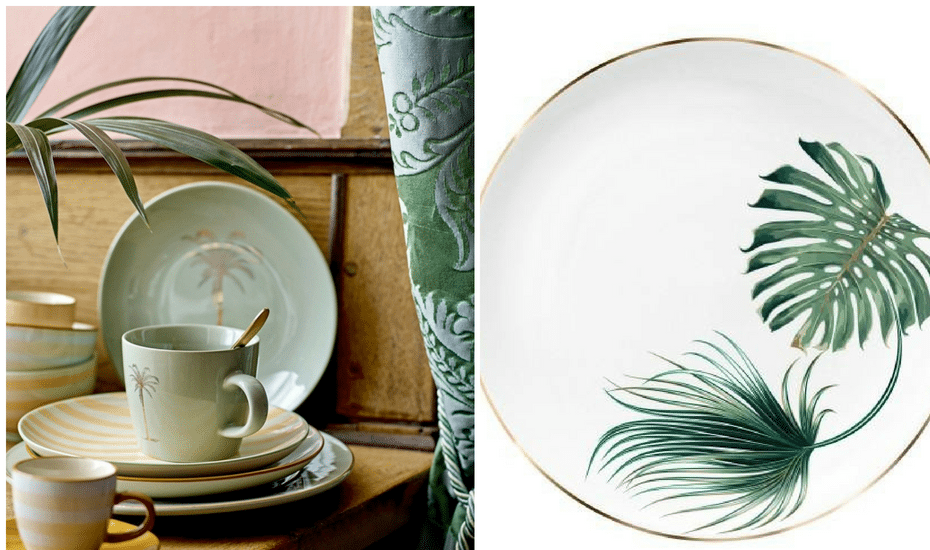 Leafy Tableware | Botanical Home Decor