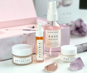 Crystal infused beauty products: You'll find crystals in most of Herbivore Botanicals products