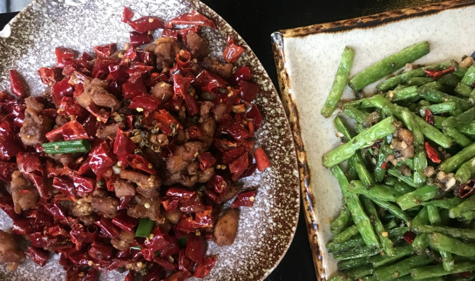 Szechuan food in Singapore: The dishes look mild? Don't let it deceive you, it sure packs a punch! Phototgraphy: Selina Altomonte