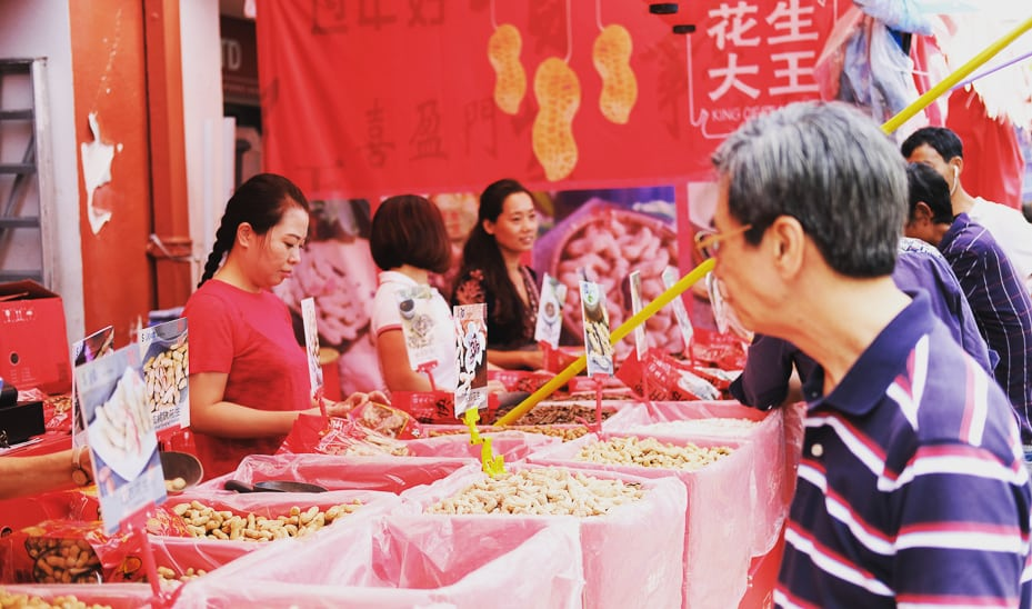 Chinese New Year shopping: Singapore's Chinatown, photographed by Meera Jane Navaratnam of Asia Photo Collective