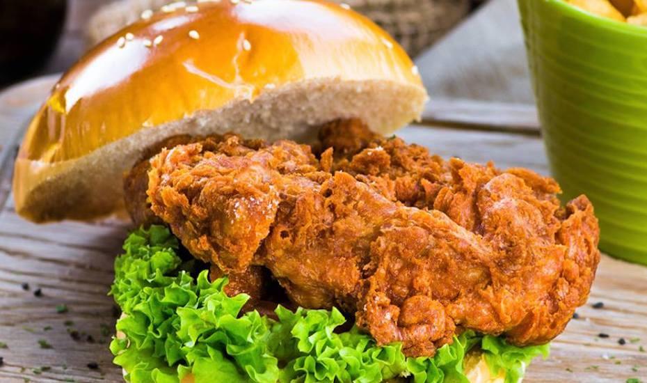 Har Cheong Gai burger at Grub