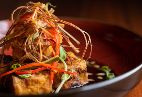 Start your East-West spread with pan-fried tofu at The Keep and Commune