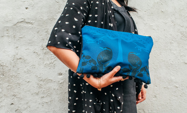 A limited edition clutch from the Onlewo x Sowing Room collab, available exclusively at The Social Space.